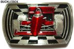Racing Car Belt Buckle + display stand